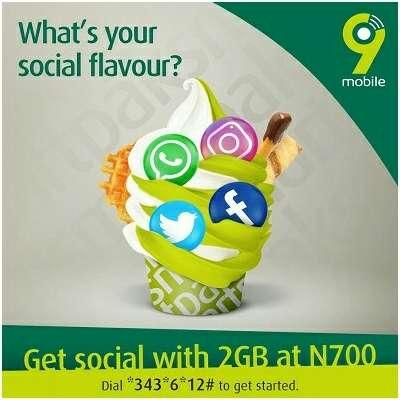 9Mobile 2gb for N700 SocialPak