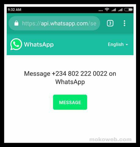 Whatsapp chat without saving number