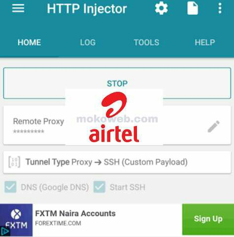 Airtel free browsing cheat