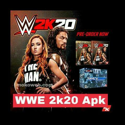 WWE 2k20 apk psp