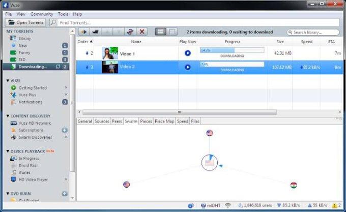 Utorrent alternative Vuze app