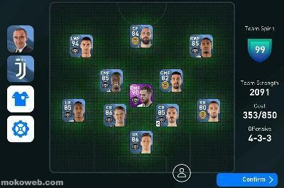 Juventus team formation