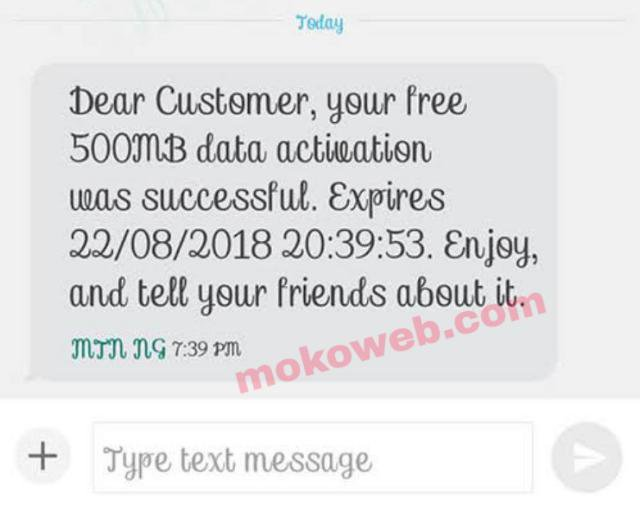 MyMTN app free 500mb