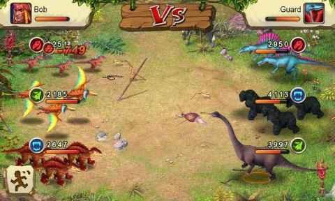 Dinosaur war game