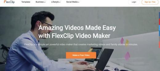 flexclip online video website