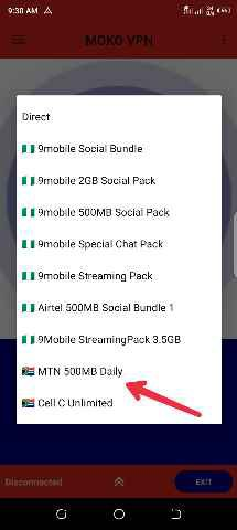 MTN SA 500MB cheat
