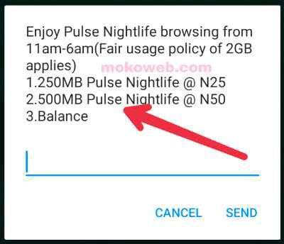 500mb for n50 Nightlife bundle
