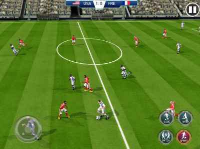 Soccer cup gameplay