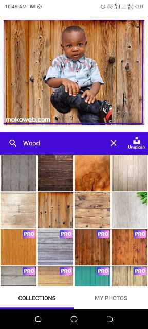 Change to wooden background