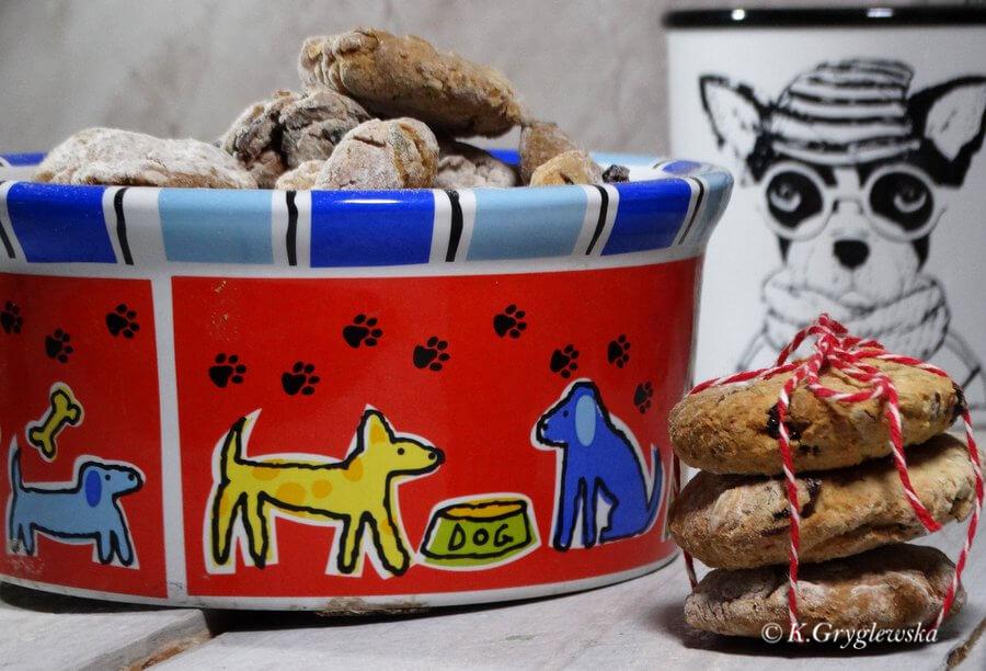 psie ciastka żurawinowe