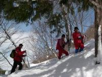 須原尾根への登り