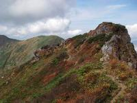 谷川岳奥の院付近の紅葉