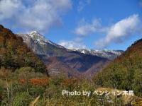 武能岳の雪化粧