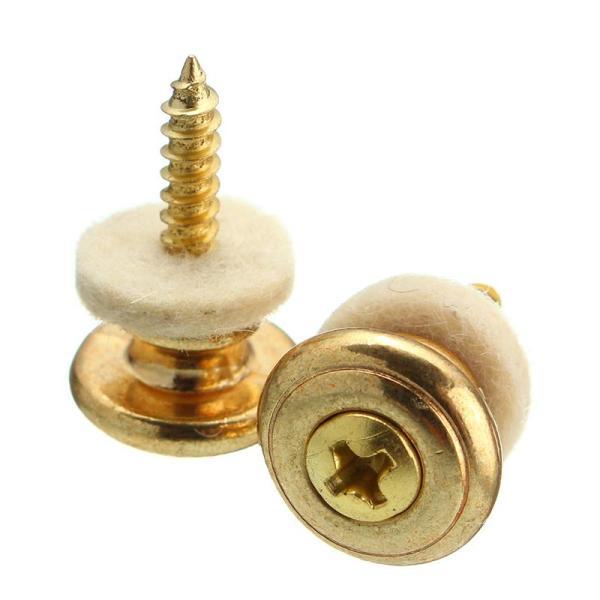 Ibanez Style Set Mushroom Strap Button gold