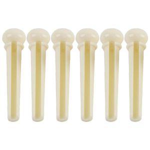 6PCS Acoustic bridge pins plastic white