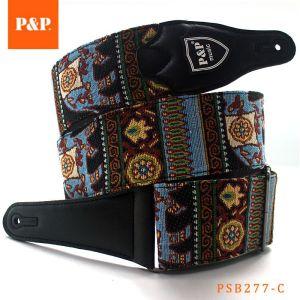 P&P handmade (bass) guitar strap 100% cotton 95-160 cm elephant
