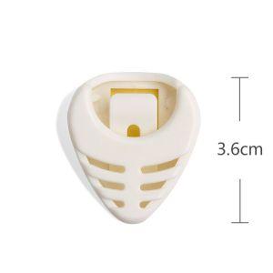 Guitar pick plectrum plastic holder white