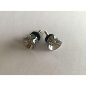 (2PCS) Modern style strap buttons chrome