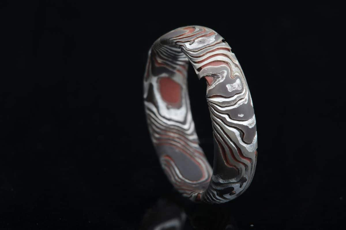 Why you don't want a copper and silver mokume gane ring