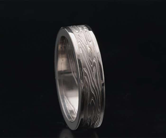 flat white gold wedding ring