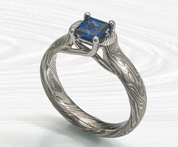 prong-set sapphire engagement ring