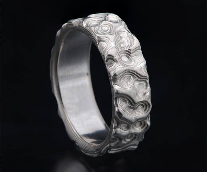 unique palladium wedding ring