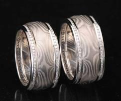 matching platinum and diamond wedding rings