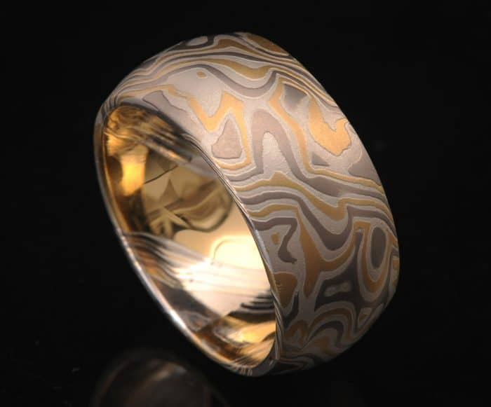 wide mens gold wedding band