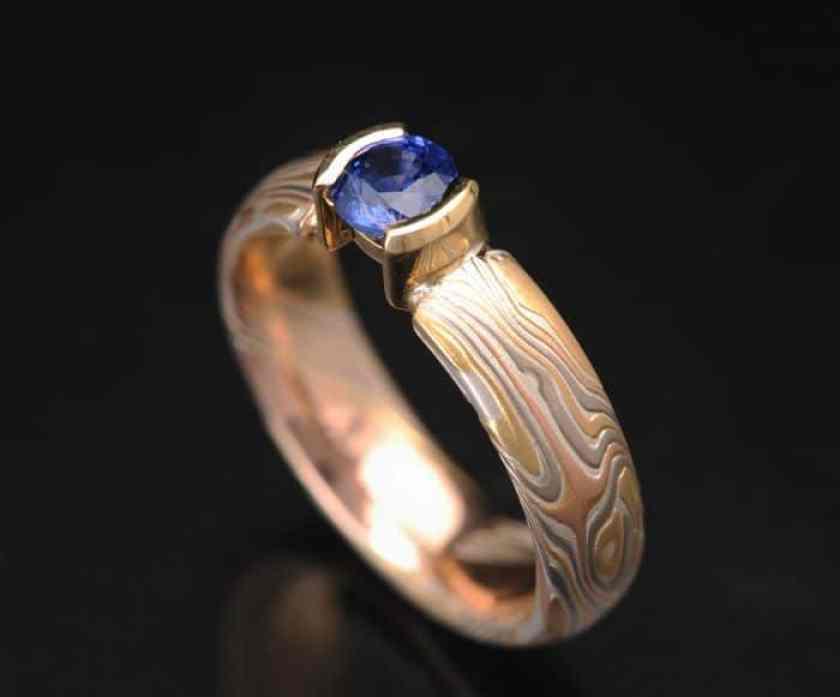 Unique Sapphire Engagement Ring