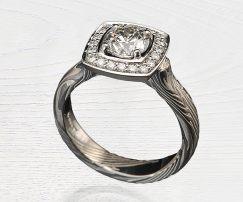 halo diamond moissanite ring
