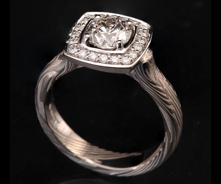 diamond moissanite halo ring