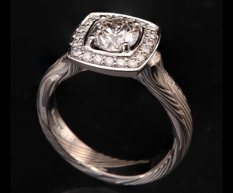 diamond moissanite halo ring