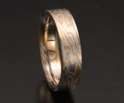 MEN'S FLAT MOKUME WEDDING BAND