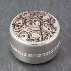 unique mokume heart box