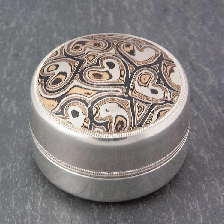 unique mokume heart box