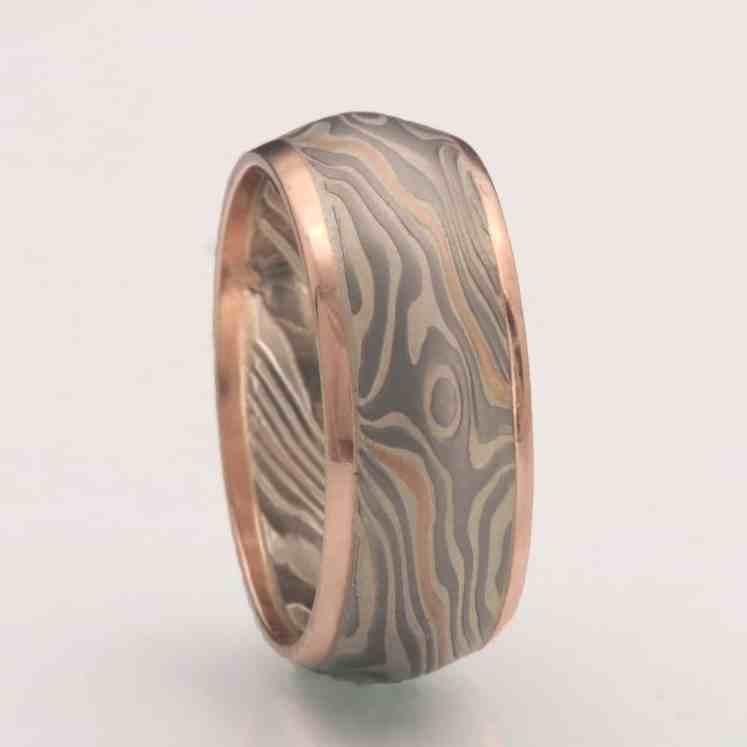 custom mokume wedding ring