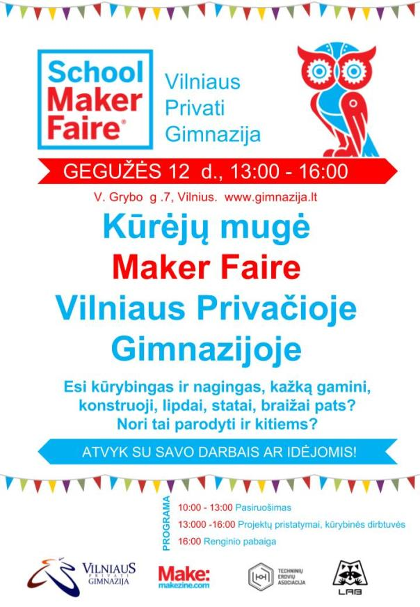 School Maker Faire šablonas VPG A4