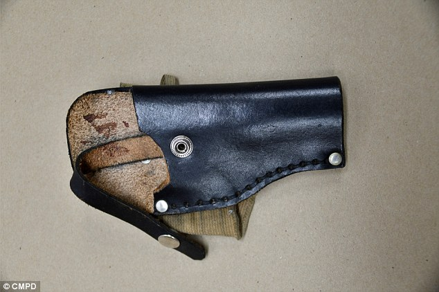 Authorities also release this picture of an ankle holster, in which they say Scott kept a gun, which they say they recovered at the scene
