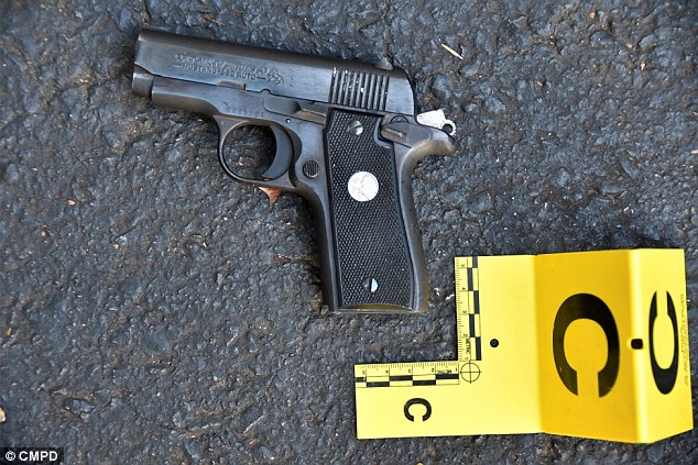 Scott's gun was reported stolen after a breaking and entering, according to the police. Authorities released this picture after he died, saying they had found it in his possession