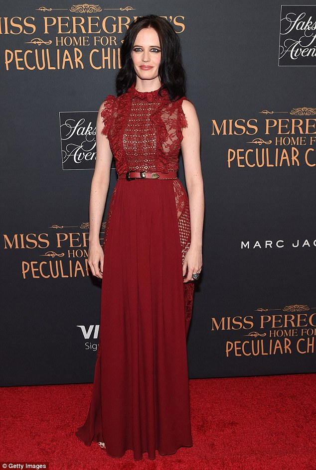 Stunner: The 36-year-old actress looked ravishing in a red number featuring plenty of see-through panelling at the star-studded gala event held at Saks Fifth Avenue in the Big Apple