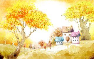 Текст песни про осень - Осень-раскрасавица