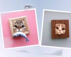 Застрявшие в рамках кошачьи мордочки - слайдшоу