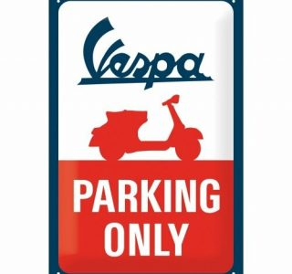 Cartello 20 X 30 Cm, Vespa – Parking Only