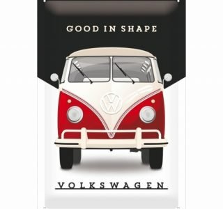 Cartello 20 X 30 Cm Volkswagen Good In Shape , Black/white/red