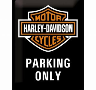 Cartello 30 X 40 Cm Harley Davidson Parking
