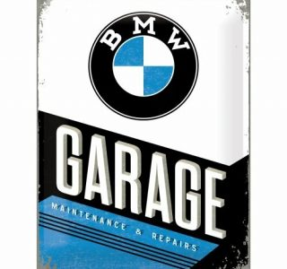 Cartello 30 X 40 Cm BMW Garage