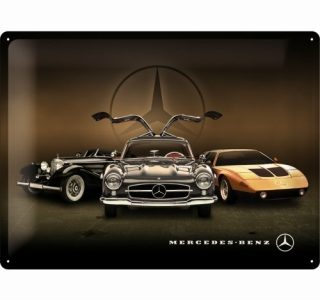 Cartello 30 X 40 Cm Mercedes-Benz – 3 Cars