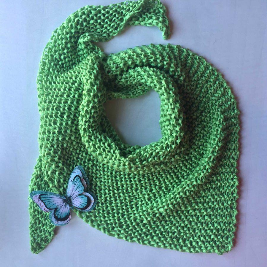 Patrón de pañuelo a calceta primaveral