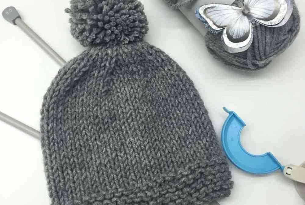 Como hacer un gorro de lana como tejer a dos agujas paso - Como hacer punto de lana para principiantes ...