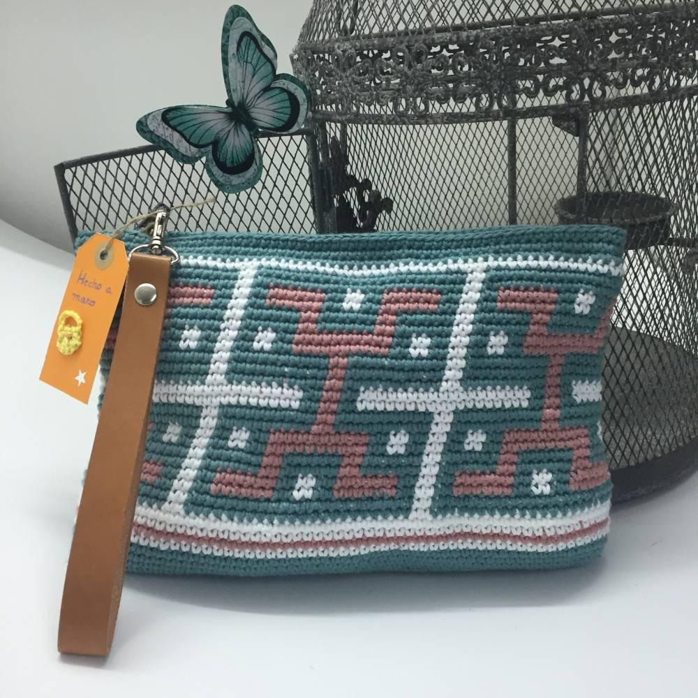 Bolsos de ganchillo DIY estilo azteca